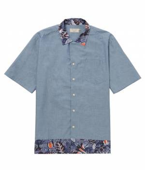 MAISON KITSUNÉ PARIS MEN - メゾン キツネ メン | CHAMBRAY S SLV SHIRT