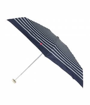 ViS - ビス | 【晴雨兼用】ハート刺しゅうボーダー折りたたみ傘