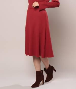 ROPÉ - ロペ   【トールサイズ】リブフレアーニットスカート