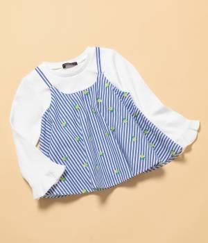 ROPÉ PICNIC KIDS - ロペピクニック キッズ | 【ROPE' PICNIC KIDS】刺繍キャミレイヤード風トップス
