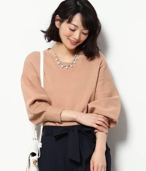 ViS - ビス   ビジューネックレス付きボリューム袖プルオーバー