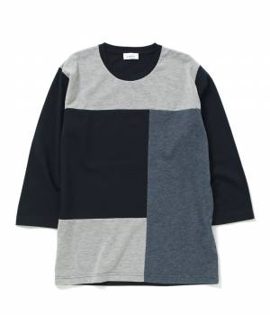 JUNRed - ジュンレッド | パッチワーク7分袖Tシャツ
