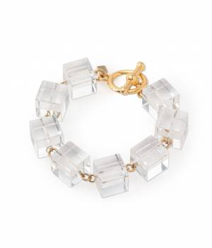 ADAM ET ROPÉ FEMME - アダム エ ロペ ファム | 【Kenneth Jay Lane】CLEAR CUBE BRACELET