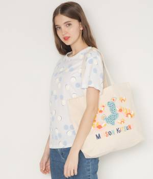MAISON KITSUNÉ PARIS WOMEN - メゾン キツネ ウィメン | TEE-SHIRT ALL-OVER DOTS