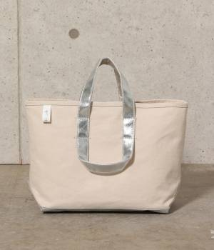 SALON adam et ropé WOMEN - サロン アダム エ ロペ ウィメン   【先行予約】【別注】【MANUFACTURED BY SAILOR'S】SILVER TOTE BAG(M)