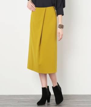 ROPÉ - ロペ   【トールサイズ】ダブルクロスタックタイトスカート