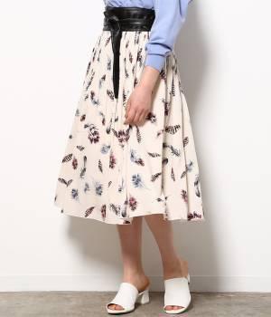 ViS - ビス   フェザープリントフェードアウトプリーツスカート