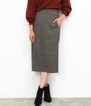 ROPÉ - ロペ | 【Oggi11月号掲載】グレンチェックハイウエストロングタイトスカート