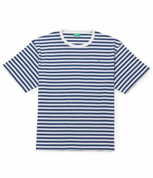 ADAM ET ROPÉ HOMME - アダム エ ロペ オム | 【先行予約】【UNITED COLORS OF BENETTON. FOR ADAM ET ROPE'】Stripe loop mark t-shirt