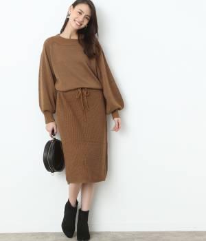 ViS - ビス | 【予約】ラメ入り編み地切替ワンピース