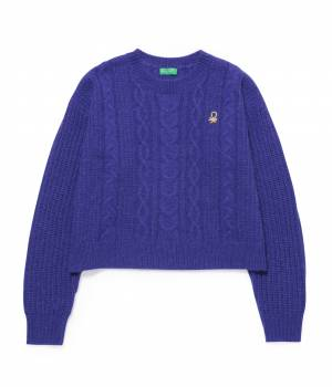 ADAM ET ROPÉ FEMME - アダム エ ロペ ファム | 【予約】【UNITED COLORS OF BENETTON. FOR ADAM ET ROPE'】CABLE KNIT PULLOVER