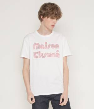 MAISON KITSUNÉ PARIS MEN - メゾン キツネ メン | TEE SHIRT STRIPED MK