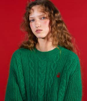 ADAM ET ROPÉ FEMME - アダム エ ロペ ファム | 【10%OFF Campaign】【UNITED COLORS OF BENETTON. FOR ADAM ET ROPE'】CABLE KNIT PULLOVER