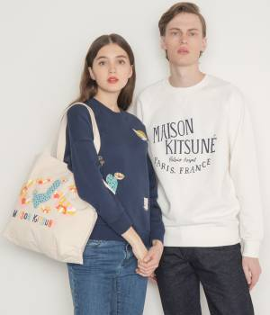 MAISON KITSUNÉ PARIS MEN - メゾン キツネ メン | SWEAT-SHIRT EMBROIDERIES