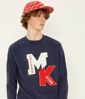 MAISON KITSUNÉ PARIS MEN - メゾン キツネ メン | SWEAT-SHIRT COLLEGE PATCH