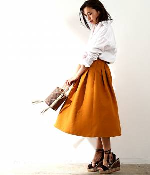ROPÉ mademoiselle - ロペ マドモアゼル   【先行予約】リネンサーキュラースカート