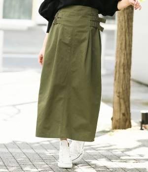 ViS - ビス | 【予約】【WEB限定】サイドバックルベルトロングスカート