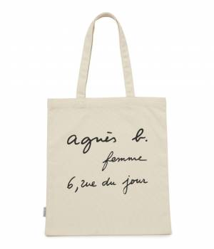 ADAM ET ROPÉ FEMME - アダム エ ロペ ファム | 【予約】【agnes  b. pour ADAM ET ROPE'】 TOTE BAG WITH SHOPPING BAG PRINT