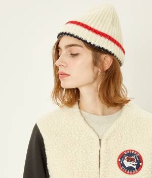 MAISON KITSUNÉ PARIS WOMEN - メゾン キツネ ウィメン | 【先行予約】MULTICOLOR RIBBED HAT