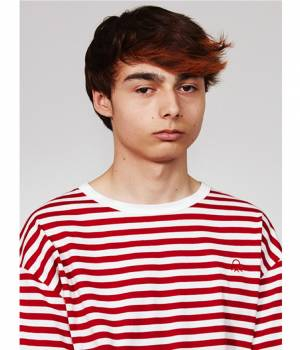 ADAM ET ROPÉ HOMME - アダム エ ロペ オム | 【UNITED COLORS OF BENETTON. FOR ADAM ET ROPE'】Stripe loop mark t-shirt