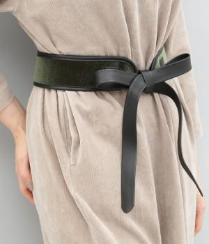 ADAM ET ROPÉ FEMME - アダム エ ロペ ファム | 【10%OFF Campaign】【arron】Velvet ribbon Sash belt
