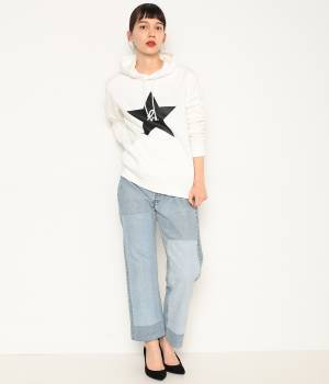ADAM ET ROPÉ FEMME - アダム エ ロペ ファム | 【agnes b. pour ADAM ET ROPE'】SWEAT PARKA (STAR)