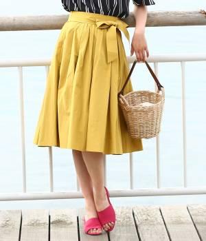 ROPÉ - ロペ | 【先行予約】【ベルト付き】ボリュームギャザーフレアスカート
