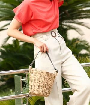 ROPÉ - ロペ | 【Oggi7月号掲載】カゴ編みバケツバッグ