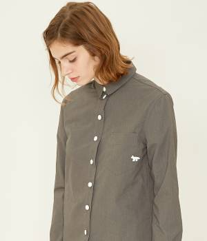 MAISON KITSUNÉ PARIS WOMEN - メゾン キツネ ウィメン | PLAIN POCKET CLASSIC SHIRT