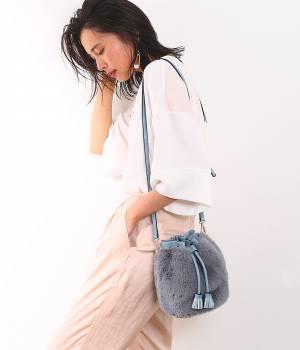 ROPÉ - ロペ | 【Oggi7月号掲載】バケツ型ファーポーチ付バッグ