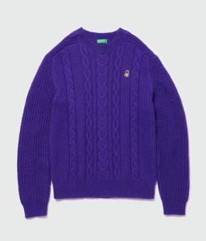 ADAM ET ROPÉ HOMME - アダム エ ロペ オム | 【UNITED COLORS OF BENETTON. for ADAM ET ROPE'】CABLE KNIT PULLOVER