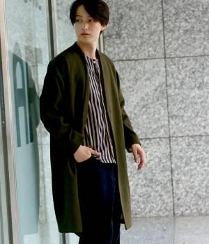 JUNRed - ジュンレッド | 【予約】【FINEBOYS 11月号掲載】ヘリンボンウォームクロスMAXIコート