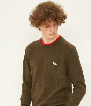 MAISON KITSUNÉ PARIS MEN - メゾン キツネ メン | LAMBSWOOL R NECK PULLOVER