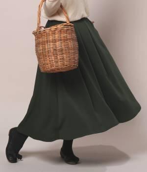LE JUN WOMEN - ル ジュン  ウィメン | 二重織りジョーゼットタックスカート