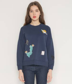 MAISON KITSUNÉ PARIS WOMEN - メゾン キツネ ウィメン | SWEAT-SHIRT EMBROIDERIES