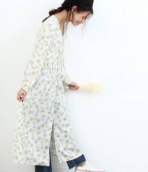 ROPÉ PICNIC - ロペピクニック | 【maegamimami×ROPE' PICNIC】夢に見た花 ガウンワンピース