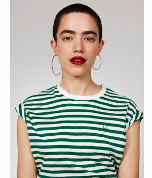 ADAM ET ROPÉ FEMME - アダム エ ロペ ファム | 【UNITED COLORS OF BENETTON. FOR ADAM ET ROPE'】Stripe loop mark t-shirts