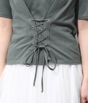 ViS - ビス | コルセット付Tシャツ