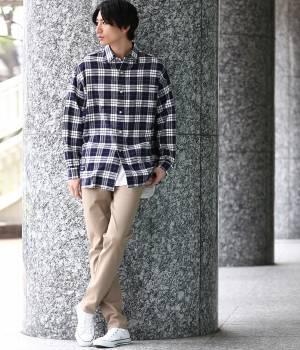 JUN SELECT - ジュンセレクト   【先行予約】【Ready Steady GO!÷JUNRed】チェックプリントシャツ