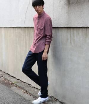 JUNRed - ジュンレッド   ネルプレンシャツ