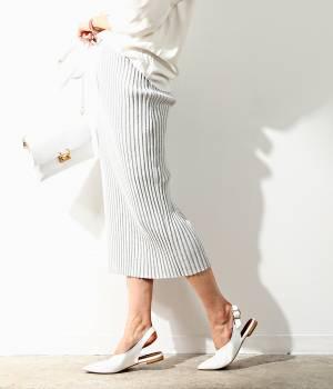ROPÉ mademoiselle - ロペ マドモアゼル   【セットアップ対応】リブニットロングスカート