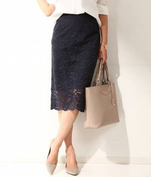 ROPÉ - ロペ   総柄レースタイトスカート