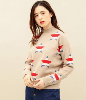 MAISON KITSUNÉ PARIS WOMEN - メゾン キツネ ウィメン | ALL-OVER STARS PULLOVER