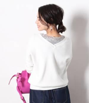 ViS - ビス | 【2017SS先行予約】VネックレースロングTシャツ