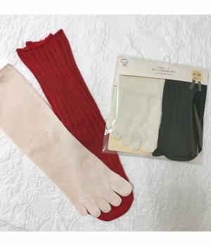 Adam et Ropé Le Magasin HOME - アダム エ ロペ ル マガザン ホーム | 絹屋 2足重ね履き靴下シルクと綿