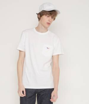 MAISON KITSUNÉ PARIS MEN - メゾン キツネ メン | PERM TEE SHIRT TRICOLOR FOX PATCH