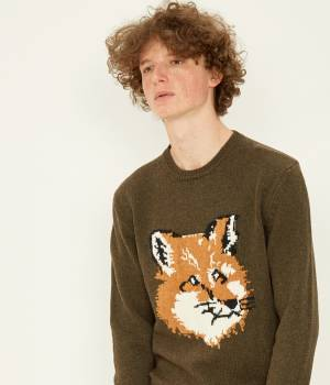 MAISON KITSUNÉ PARIS MEN - メゾン キツネ メン | FOX HEAD PULLOVER