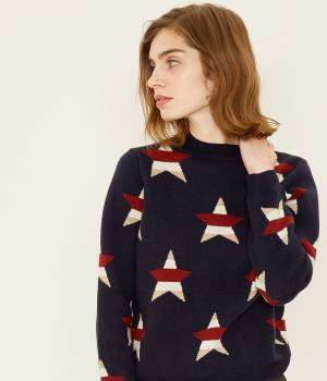 MAISON KITSUNÉ PARIS WOMEN - メゾン キツネ ウィメン | 【先行予約】ALL-OVER STARS PULLOVER