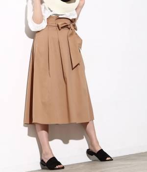 ViS - ビス   カラーハイウエストミモレ丈スカート