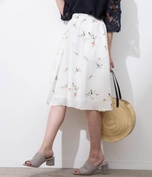 ViS - ビス | フラワープリントギャザースカート